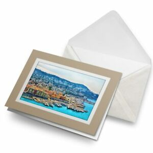 Greetings-Card-Biege-Cote-d-039-Azur-France-Beach-Sea-21395