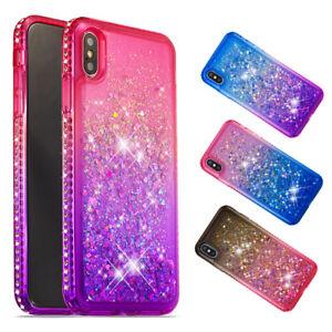 Bling-Diamond-Dynamic-Quicksand-Glitter-Liquid-TPU-Case-Cover-For-iPhone-Phones