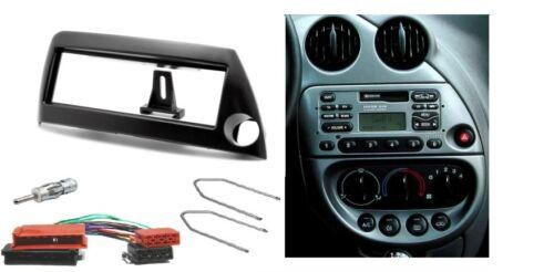 Autorradio radio diafragma set para ford ka 1996-2008 din negro