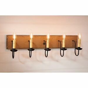 Vanity Lights Usa : 5 Arm Country Handcrafted Wood Custom Vanity Light - MADE IN THE USA eBay