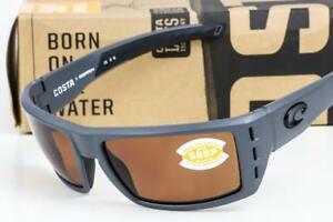 f507e4f9cb9 NEW COSTA DEL MAR RAFAEL SUNGLASSES Ocearch Matte Gray   Copper 580P ...