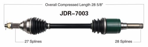 625i 825i 855D ATV Rear Left XUV CV Axle Shaft 2011-2017 John Deere Gator