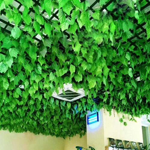 Artificial Grape Ivy Leaf Garland Plant Vine Foliage Long Leaves Railing Decor