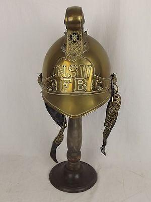 New South Wales Fire Brigade Merryweather Pattern Brass Firemans Helmet