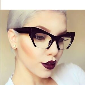 79abfdc94f09 Ladies Small Half Frame Cat Eye Glasses Frames Women Elegant ...