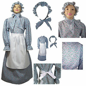 Image Is Loading Kids Prairie Dress Set Calico Laura Ingalls Wilder