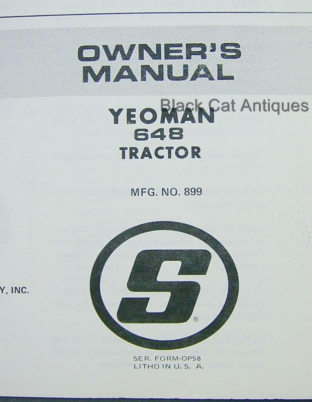 simplicity owner s manual parts list yeoman 64b tractor mfg no 899 rh prevalents loyal top simplicity coronet 9 owner's manual simplicity legacy owner's manual