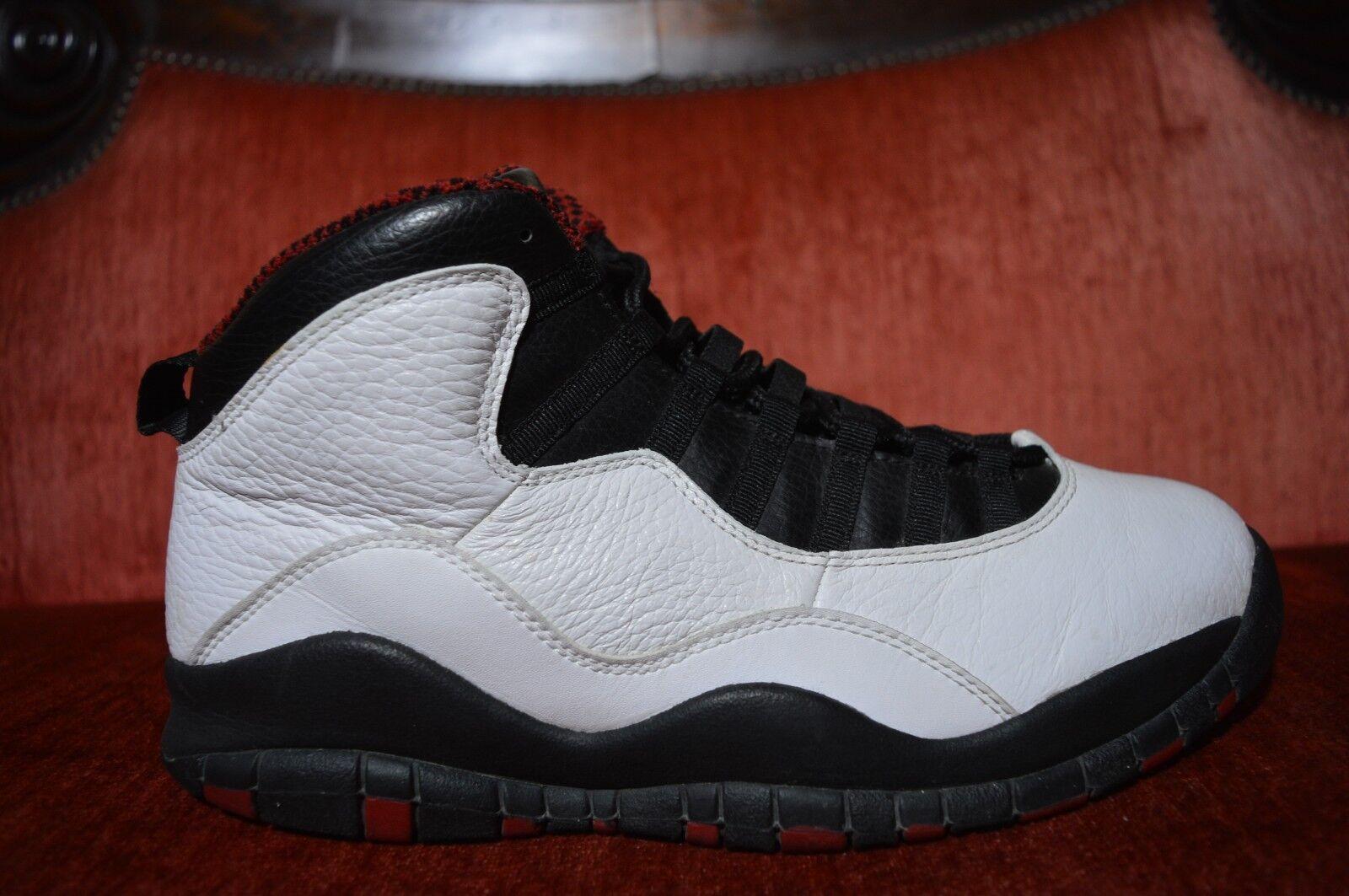 2018 Nike Air Jordan 10 x blanco, retro Chicago Bulls, negro, blanco, x tamaño 10,5 d99a71