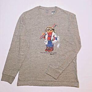 Polo-Ralph-Lauren-Long-Sleeve-Crew-Polo-Bear-Skiier-T-Shirt-Limited-Edition