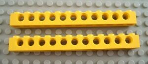 LEGO Lot of 2 White 1x12 Basic Building Bricks