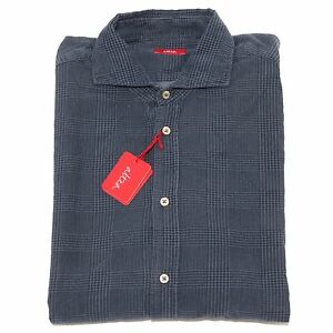 Cotone 2416p Shirt Blu Camicia Ebay Men Camicie Uomo Pesante Altea FvFRw