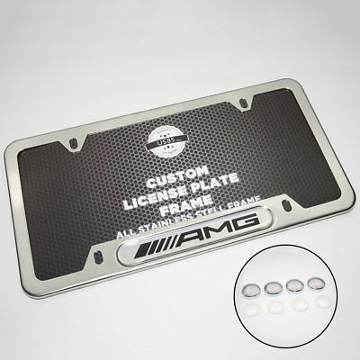 Buick Black Stainless Steel Front Rear Emblem License Plate Frame Cover Gift