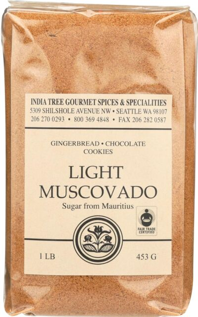 INDIA TREE GOURMET SPICES U0026 SPECIALTIES LIGHT MUSCOVADO SUGAR (6 16 ...