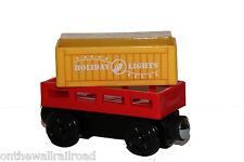 HOLIDAY LIGHT-UP CARGO & CAR Thomas Tank Engine Wooden Railway NEW Christmas