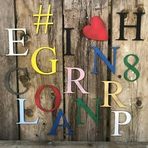 Details About 5 Letters Metal Sign Lettering Personalised Any Word Kids Girls Boys Bedroom