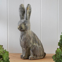 Large Shabby Chic Hare Ornament Sculpture