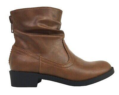 TEDDY-2 Soda Big Kids Little Girls Dress Slouchy Zipper Low Heel Ankle Boots