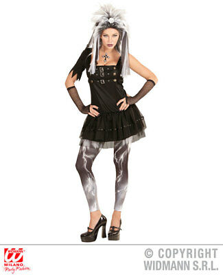 Womens Ladies Gothic Girl Wednesday Fancy Dress Costume Halloween Outfit Adult