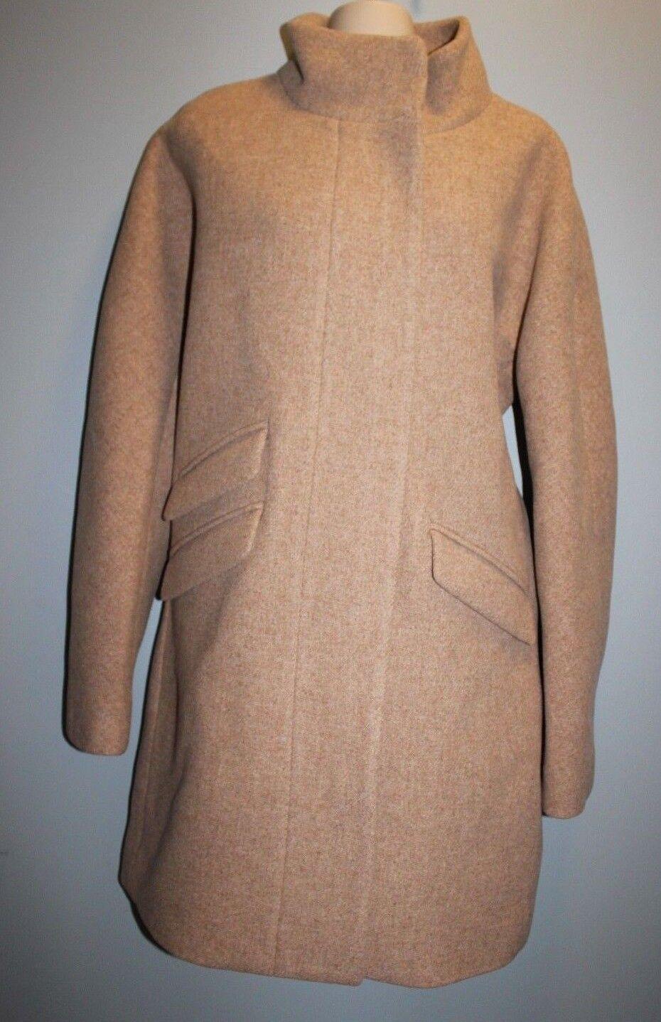 NWT JCrew  350 Cocoon Coat Italian Stadium-Cloth Wool 12 SANDSTONE G8447