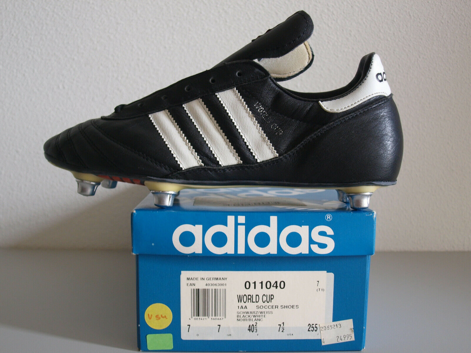 Adidas World Cup 1993 Made In France US 7.5 Vintage Cleats Torsion ZX Rare