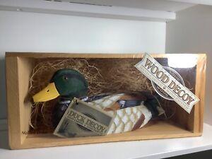 Wooden Drake Mallard Duck Carving Handpainted
