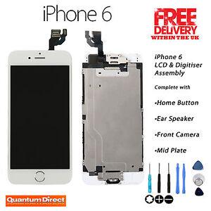 Blanco-Digitalizador-de-pantalla-tactil-LCD-RETINA-Montaje-Completo-Con-Piezas-Para-Iphone-6