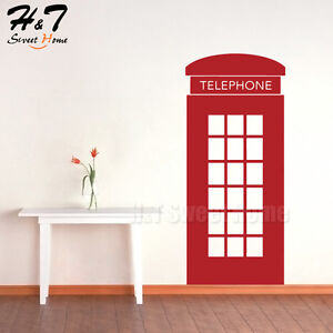 Image Is Loading London Telephone Booth Box Removable Vinyl Wall Sticker