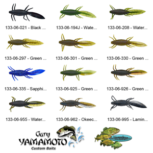 Yamamoto Grub Double Tail 16-20-021 Black Blue Flake 5 Inch Jig Trailers