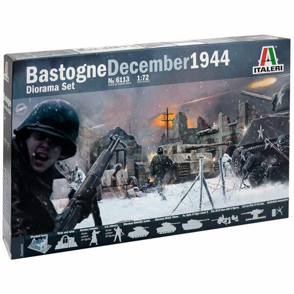 ITALERI Battle of Bastogne Dec 1944 Diorama Set 1 72 Figures Model Kit 6113