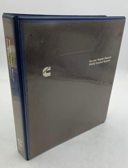 Cummins Master Repair Manual Pace Control System Binder