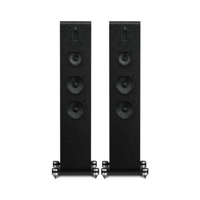 kef r900 floorstanding speakers in gloss black