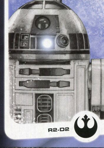 Star Wars Journey To The Last Jedi Illustrated Chase Card #4 R2-D2