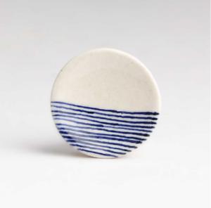 Bleu & Blanc Céramique Rond japonais lignes Bouton tiroir poignée Meuble Bombay Duck-afficher le titre d`origine 5grsSeyV-07212655-300300962
