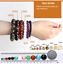 Natural-Sea-Sky-Blue-Agate-Gemstone-Bead-Men-Women-Lucky-Charm-Energy-Bracelet thumbnail 4