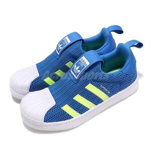 Détails sur Adidas Originals Superstar 360 C bleu jaune blanc Enfant Preschool Shoes CG6575 afficher le titre d'origine