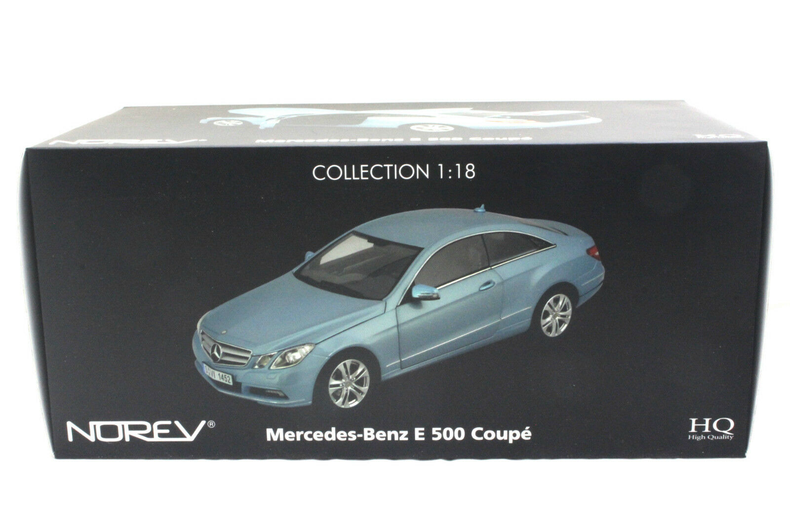 NOREV 2009 MERCEDES BENZ E 500 COUPE METALLIC blueE 1 18 DIECAST CAR 183542