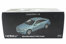 NOREV 2009 MERCEDES BENZ E 500 COUPE METALLIC BLUE 1/18 DIECAST CAR 183542