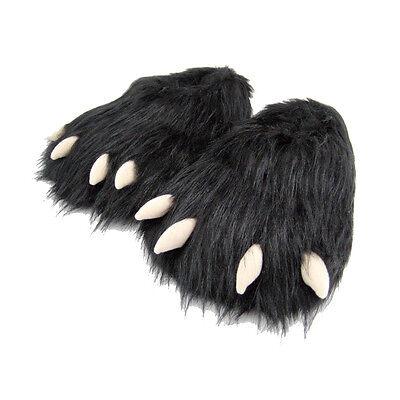 NEW Men's & Women's Novelty Monster Claw Animal Slippers Black Size 1.5 - 16