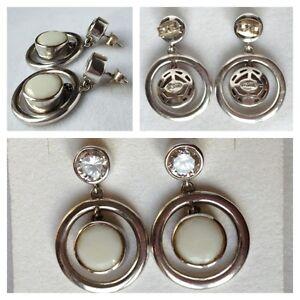 Belles boucles d'oreilles-Boucles d'oreilles 925 argent avec pierres de couleur LhbnK4x2-09091700-955839723