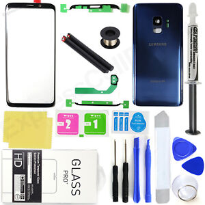 For-Samsung-Galaxy-S9-G960-Blue-Front-Screen-Lens-Back-Glass-Replacement-Kit