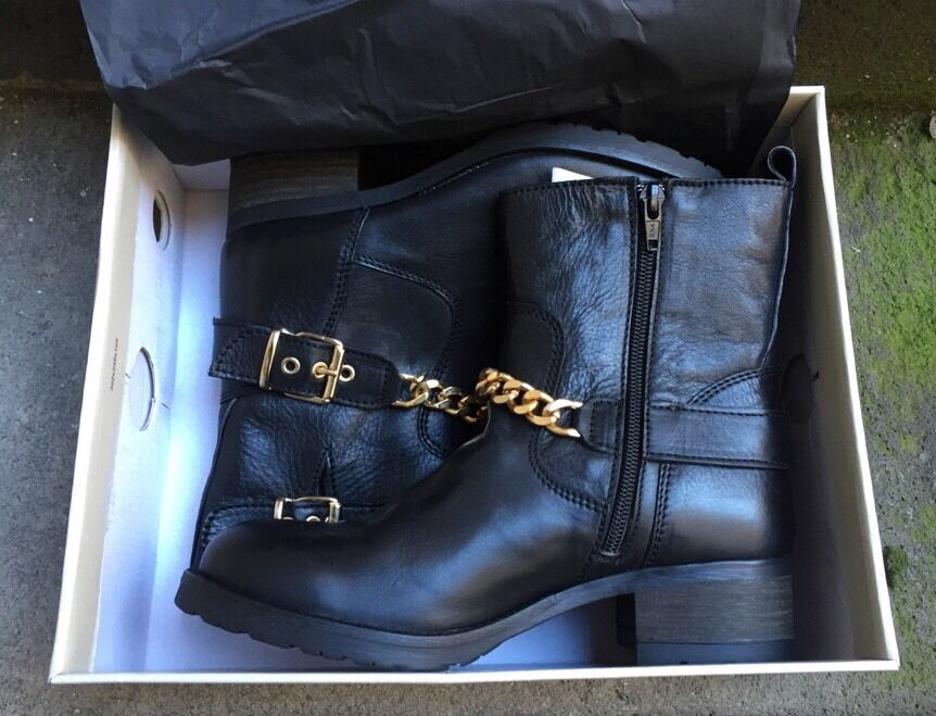 DESTOCKAGE : BOTTINES Stiefel MARQUE IMPACT CUIR NOIR NEUF @ T 38 @ NEUF NOIR  @ N382 e57290