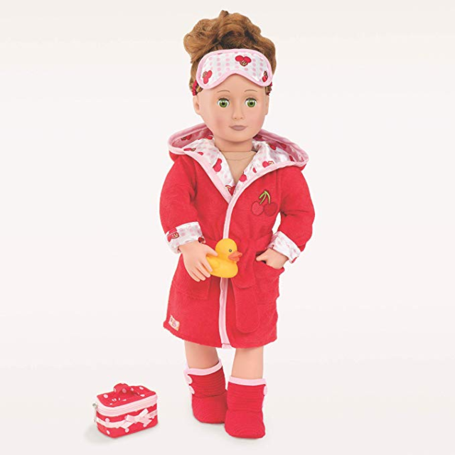 Our Generation Dolls - Robe A Dub Doll Deluxe Cherry Robe Outfit, 18""