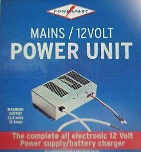 caravan mains 12volt power supply \u0026 battery charger 10 amp caravan