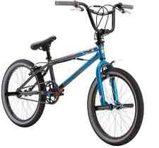 Mongoose BMX Bikes 20 inch Boys Bike Mode-100 Freestyle Boys Bicycles Pegs, Blue