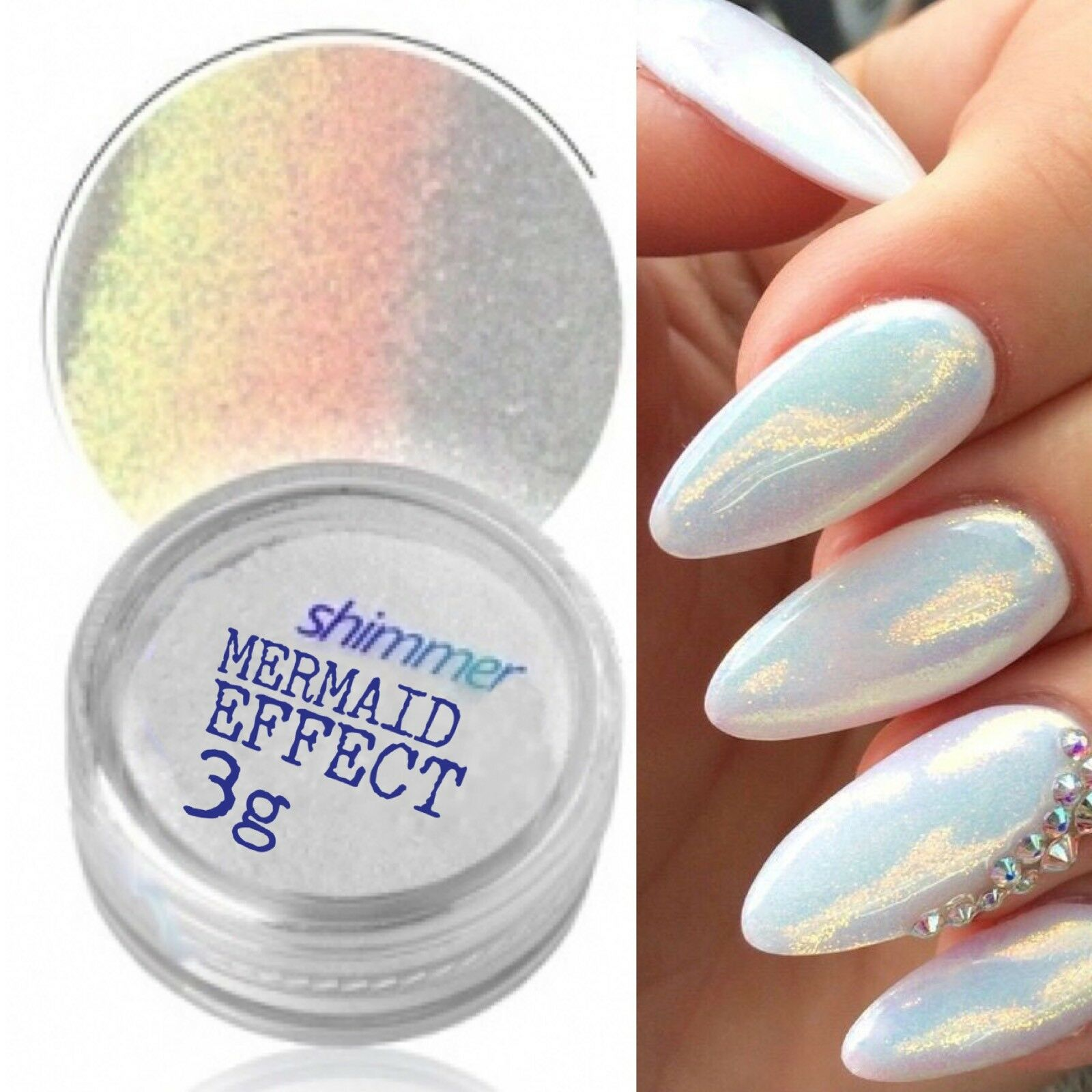 MERMAID EFFECT GLITTER NAIL ART POWDER DUST GLIMMER Hot Nails ...