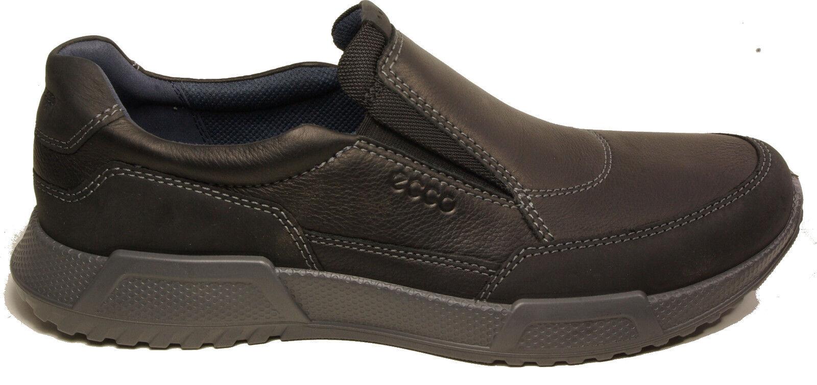 ECCO Schuhe Modell LUCA Slipper Halbschuhe schwarz Leder NEU