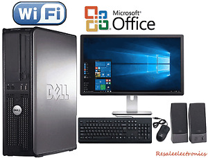Fast Dell Desktop PC Computer Dual Core 3 4Ghz 8GB 2TB Win 10 Pro WIFI monitor
