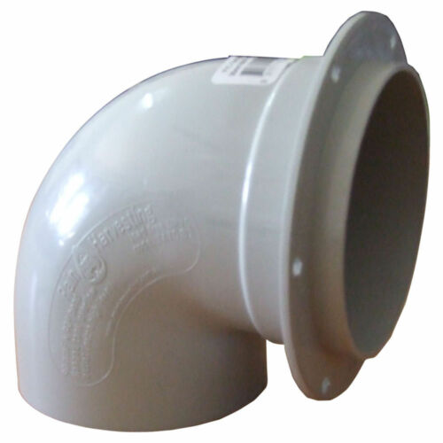 2 x Rain Harvesting FLANGED BEND 90mm PVC Male /& Female Overflow Outlet Elbow