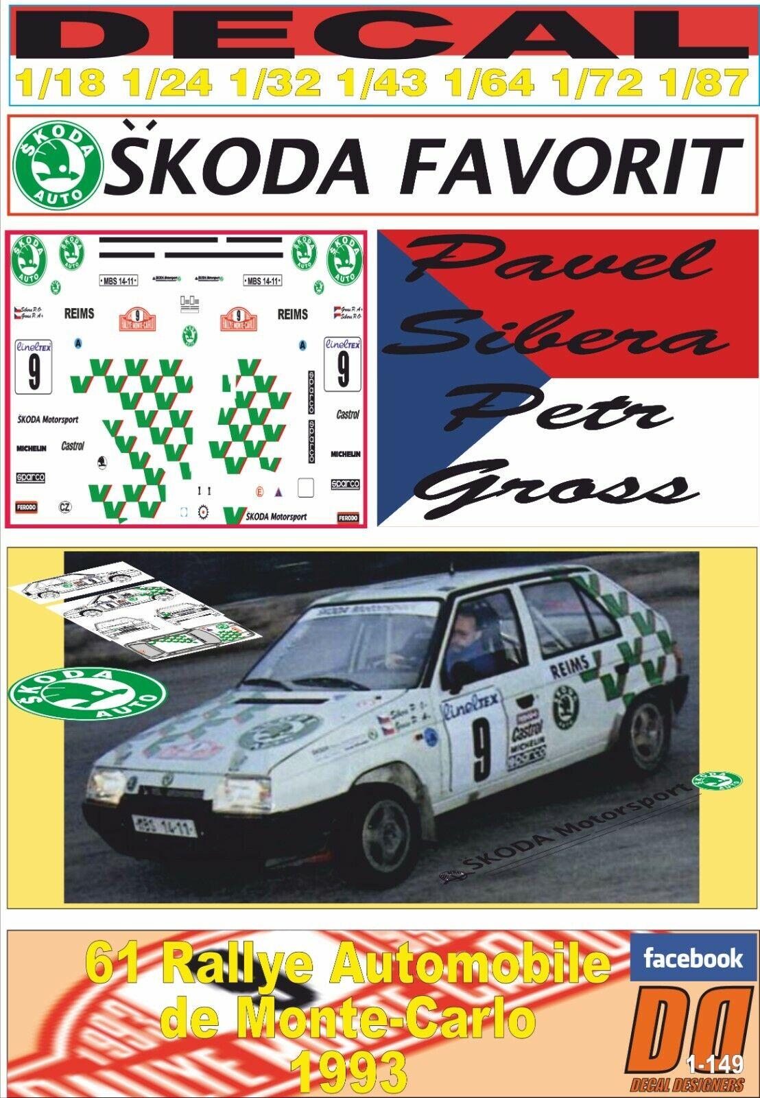 DECAL SKODA FAVORIT PAVEL SIBERA rally MONTEbilLO 1993 (08)