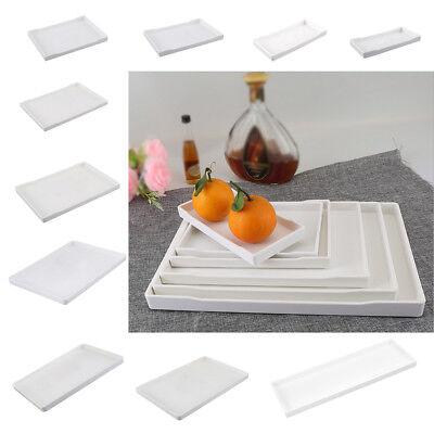 1pc Melamine Tray European Tea Serving Tray Hotel Guest Room White 21×10cm